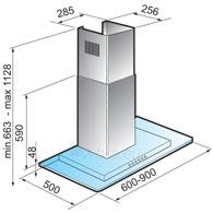 Tvaika nosūcējs ELITAIR QS90GLASS K3150127  Paveikslėlis 1 iš 1 250113000887