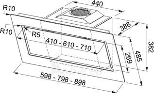 Tvaika nosūcējs FRANKE MYTHOS FMY 806 WH Paveikslėlis 2 iš 2 2501130000898