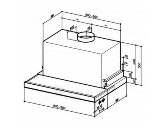 Tvaika nosūcējs BEST ES 24 ELR 2FM XS 90 cm Paveikslėlis 4 iš 4 250113001285