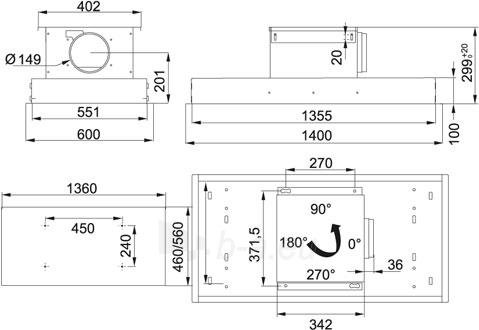 Tvaika nosūcējs FRANKE FGX GALAXY/4 1000 FX CE Paveikslėlis 2 iš 3 2501130000891