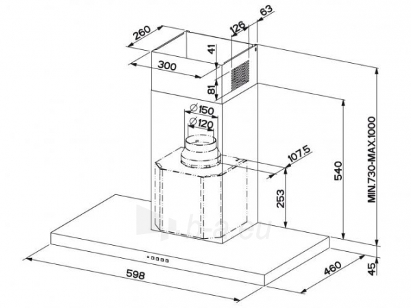 Tvaika nosūcējs FRANKE FORMAT FDF 6354 XS Paveikslėlis 2 iš 2 2501130000892