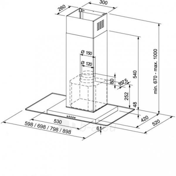 Steam collector Franke Glass Linear Island-FGL 905 Paveikslėlis 1 iš 1 2501130000763