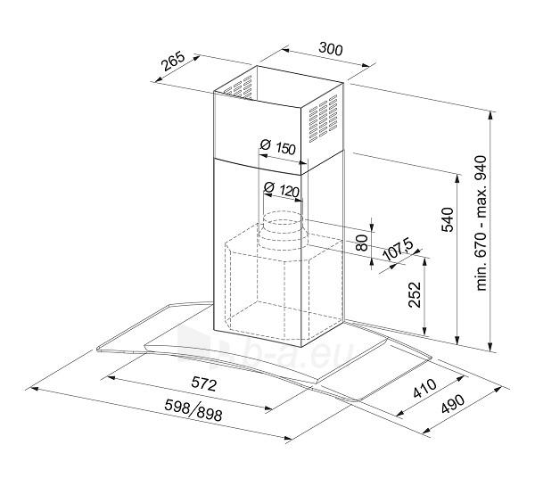 Steam collector FRANKE GLASS SOFT FGC 906 XS Paveikslėlis 1 iš 1 2501130000893