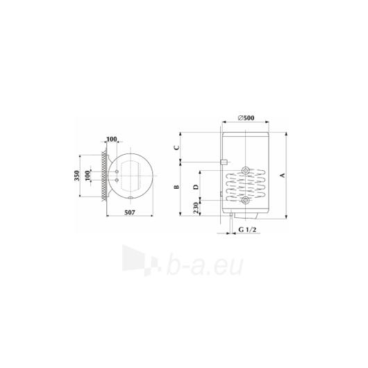 GBK 120 LN/RN Kombinuotas 120 l vandens šildytuvas Paveikslėlis 2 iš 2 271420000246