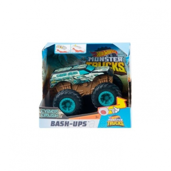 GCF94 / GCF97 Hot Wheels Mattel Monster Trucks Cyber Crush MATTEL Paveikslėlis 2 iš 3 310820252871