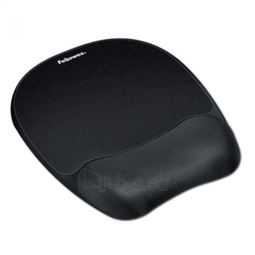 Gelinis kilimėlis pelei su atrama riešui Fellowes Memory Foam, juodas Paveikslėlis 1 iš 1 310820014346