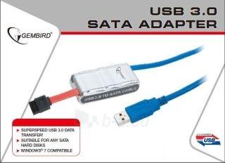 Gembird Adapteris USB 3.0 prie SATA 2.5 ir 3.5 su maitinimo šalt. Paveikslėlis 1 iš 2 250255081407
