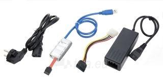 Gembird Adapteris USB 3.0 prie SATA 2.5 ir 3.5 su maitinimo šalt. Paveikslėlis 2 iš 2 250255081407