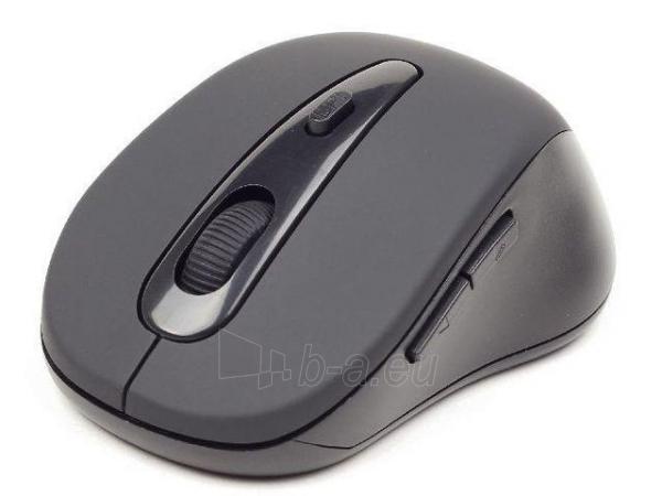 Gembird Bluetooth optical mouse 1600 DPI, black Paveikslėlis 1 iš 2 250255031007