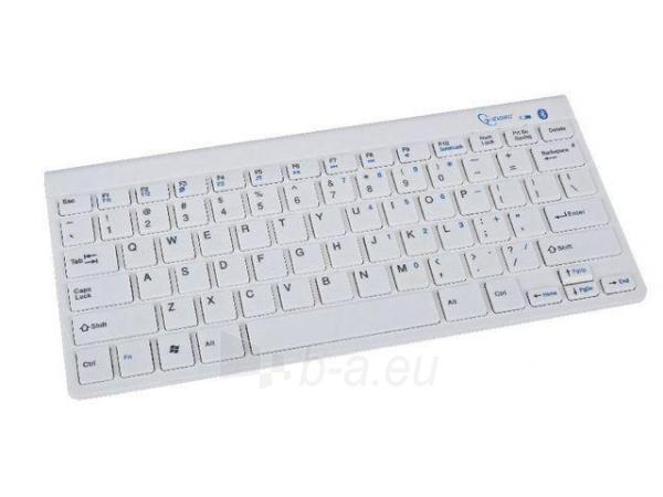 Gembird bluetooth slimline compact keyboard, white, US layout Paveikslėlis 1 iš 4 250255700934