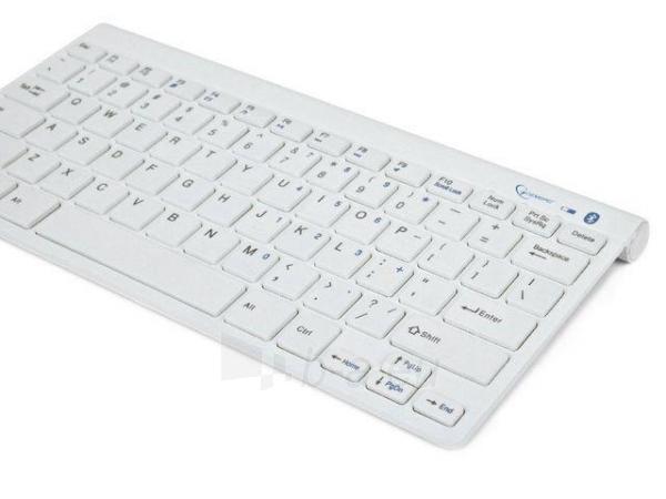 Gembird bluetooth slimline compact keyboard, white, US layout Paveikslėlis 2 iš 4 250255700934