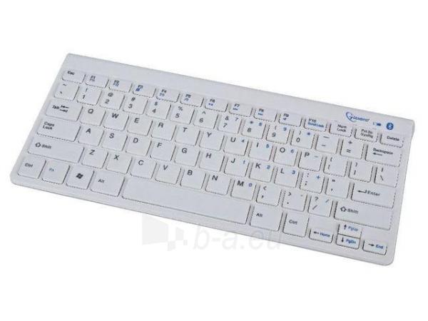 Gembird bluetooth slimline compact keyboard, white, US layout Paveikslėlis 3 iš 4 250255700934