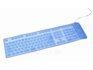 Gembird Flexible backlight keyboard, USB PS/2 combo, blue color, US layout Paveikslėlis 1 iš 2 250255700935