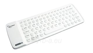 Gembird Flexible Bluetooth mini keyboard, USB, white color, US layout Paveikslėlis 1 iš 4 250255700936