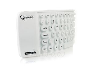 Gembird Flexible Bluetooth mini keyboard, USB, white color, US layout Paveikslėlis 3 iš 4 250255700936