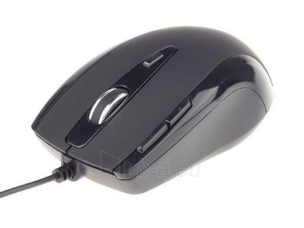 Gembird G-Laser mouse 2400 DPI, USB, black Paveikslėlis 1 iš 2 250255031008