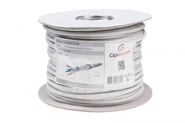 Gembird instaliacinis kabelis FTP, 4x2, kat. 5e, monolitinė gysla, 100m, pilkas Paveikslėlis 1 iš 3 250257440052