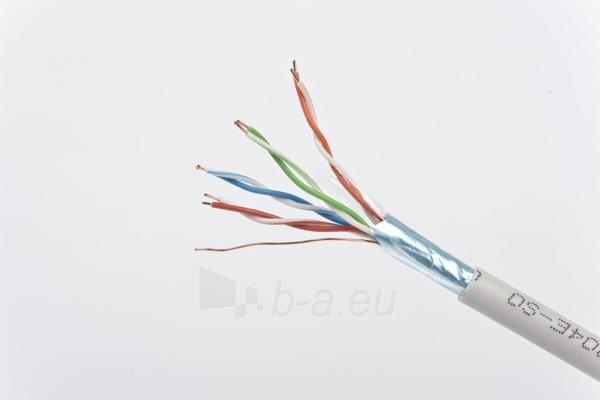 Gembird instaliacinis kabelis FTP, 4x2, kat. 5e, monolitinė gysla, 100m, pilkas Paveikslėlis 2 iš 3 250257440052