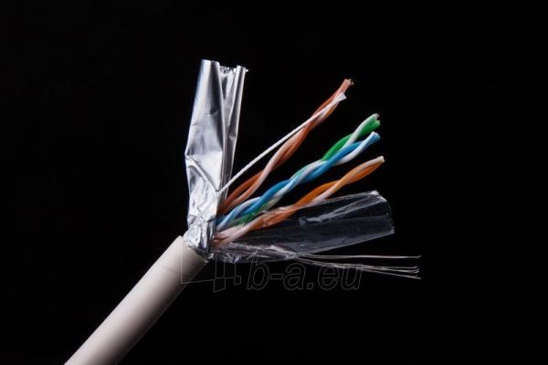 Gembird instaliacinis kabelis FTP, 4x2, kat.5e, CCA/stranded,305m, pilkas Paveikslėlis 3 iš 3 250257440054