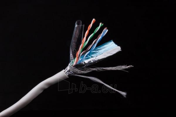 Gembird instaliacinis kabelis vytos poros SFTP, 4x2, kat. 5e, laidas 305m, pilka Paveikslėlis 3 iš 4 250257440059