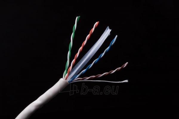 Gembird instaliacinis kabelis vytos poros UTP, 4x2, kat. 6, viela 305m, pilkas Paveikslėlis 3 iš 3 250257440062