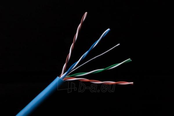 Gembird kabelis UTP, kat. 5e, viela,  CU- grynas varis ritinys 305m mėlynas Paveikslėlis 3 iš 3 250257440065