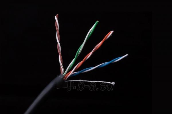 Gembird kabelis UTP,kat. 5e,viela,CU- grynas varis ritinys 305m pilkas išorinis Paveikslėlis 3 iš 6 250257440067