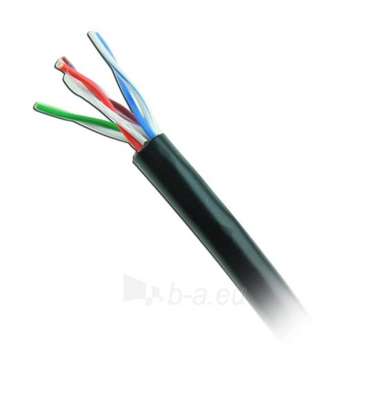 Gembird kabelis UTP,kat. 5e,viela,CU- grynas varis ritinys 305m pilkas išorinis Paveikslėlis 4 iš 6 250257440067