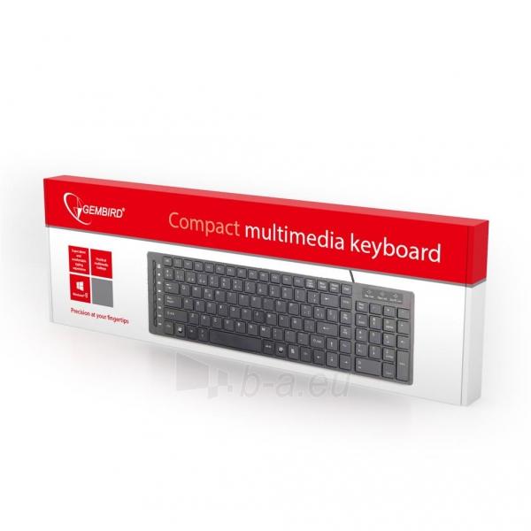 Gembird KB-MCH-01 Multimedia chocolate keyboard USB, US layout, black Paveikslėlis 2 iš 2 250255701269
