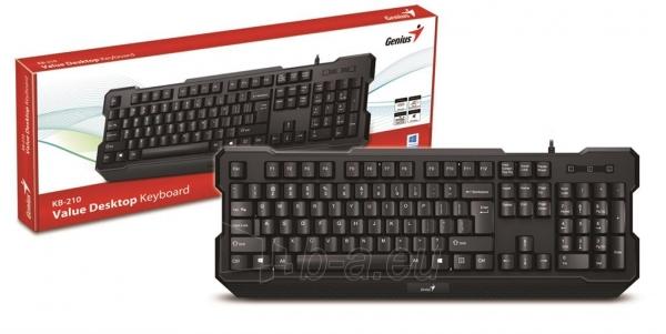Genius keyboard KB-210, black Paveikslėlis 5 iš 5 250255701399