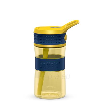 Gertuvė Boddels EEN Drinking bottle Bottle, Night blue/Yellow, Capacity 0.4 L, Diameter 7.5 cm, Bisphenol A (BPA) free Paveikslėlis 1 iš 1 310820219659