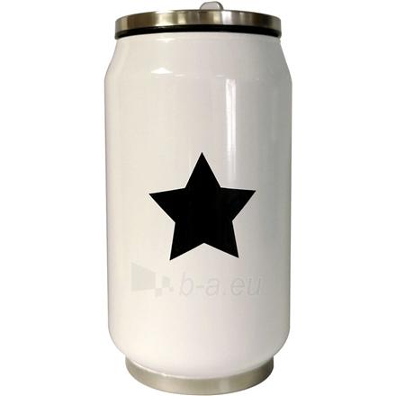 Gertuvė Yoko Design 1380/7821 Isothermal tin can, White/ black, Capacity 0.28 L, Paveikslėlis 1 iš 1 310820219641