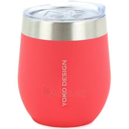 Gertuvė Yoko Design Isotherm mug with cup Isothermal, Red, Capacity 0.25 L, Bisphenol A (BPA) free Paveikslėlis 1 iš 1 310820219676