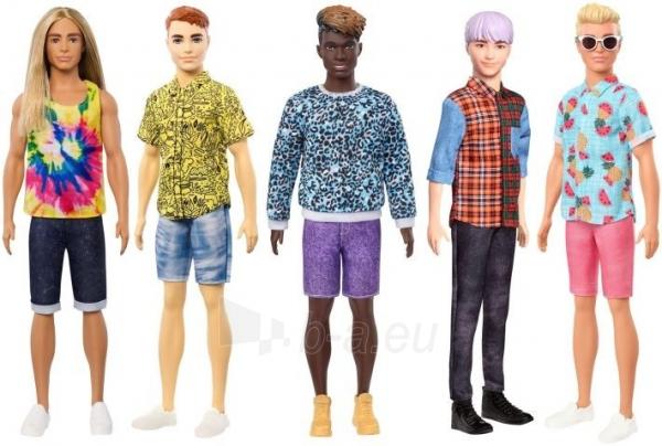 GHW68 Barbie Ken Fashionistas Doll Sculpted Blonde Hair & Tropical Print Shirt MATTEL Paveikslėlis 3 iš 6 310820252851