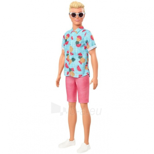 GHW68 Barbie Ken Fashionistas Doll Sculpted Blonde Hair & Tropical Print Shirt MATTEL Paveikslėlis 4 iš 6 310820252851