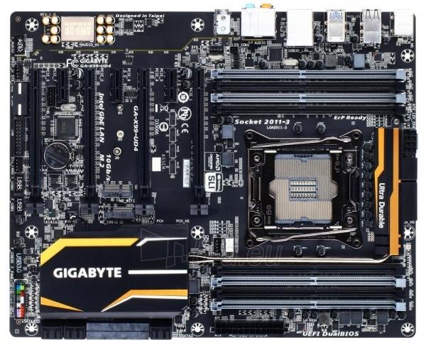 Gigabyte GA-X99-UD4, X99, QuadDDR4-2133, SATA Express, SATA3, RAID, ATX Paveikslėlis 1 iš 2 250255051643
