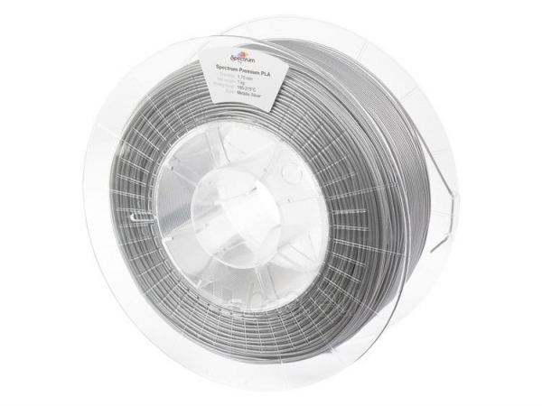 Gija Filament SPECTRUM / PLA / SILVER METALLIC / 1,75 mm / 1 kg Paveikslėlis 1 iš 4 310820167034