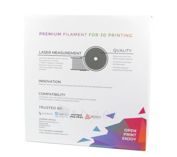 Gija Filament SPECTRUM / PLA / SILVER METALLIC / 1,75 mm / 1 kg Paveikslėlis 4 iš 4 310820167034
