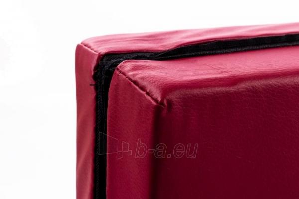 Gimnastikos čiužinys 116 x 116 cm bordo Paveikslėlis 3 iš 3 310820218615
