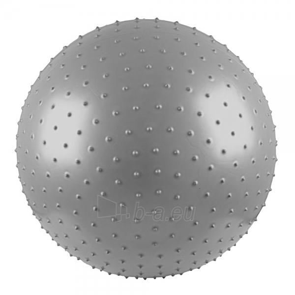 Gimnastikos ir masažo kamuolys 75cm pilkas Paveikslėlis 1 iš 4 250620200052