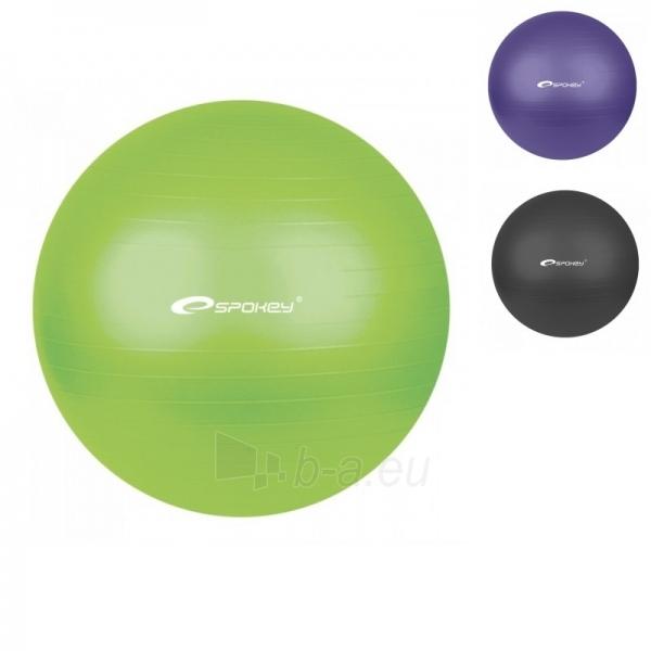 Gimnastikos kamuolys FITBALL 65cm violetinis 2 Paveikslėlis 1 iš 5 250620200123