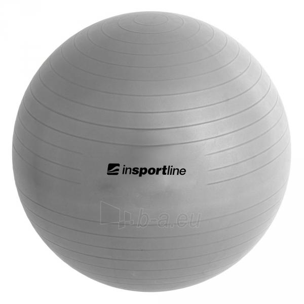 Gimnastikos kamuolys inSPORTline Top Ball 55 cm pilkas Paveikslėlis 2 iš 9 250620200085