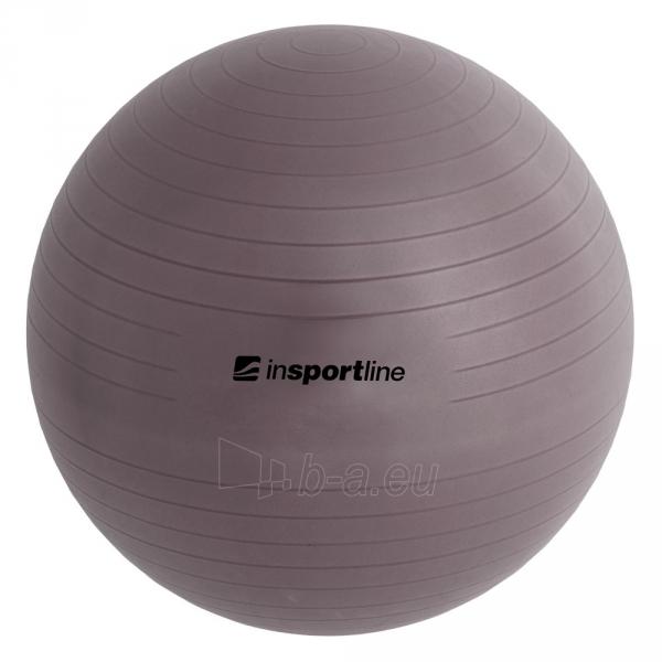 Gimnastikos kamuolys inSPORTline Top Ball 55 cm pilkas Paveikslėlis 6 iš 9 250620200085