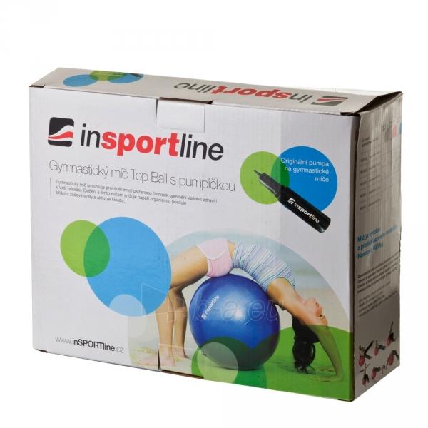 Gimnastikos kamuolys inSPORTline Top Ball 55 cm pilkas Paveikslėlis 9 iš 9 250620200085