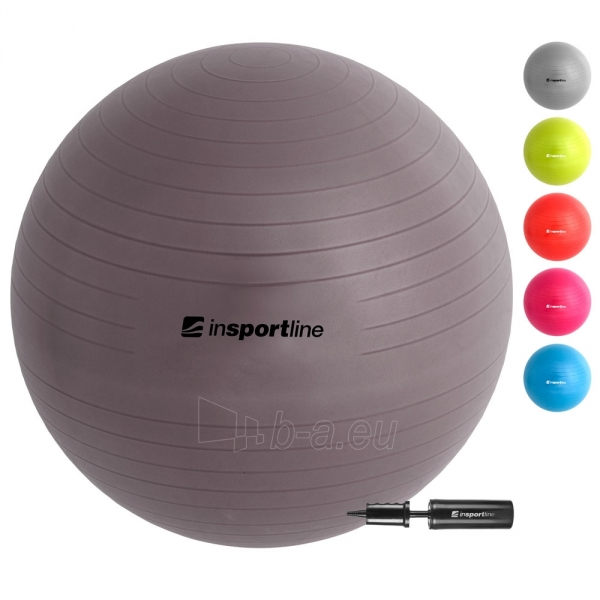 Gimnastikos kamuolys inSPORTline Top Ball 85 cm pilkas Paveikslėlis 1 iš 9 250620200093