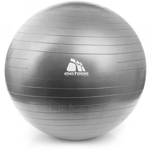 Gimnastikos kamuolys Meteor 85cm sidabrinis Paveikslėlis 1 iš 3 310820047277
