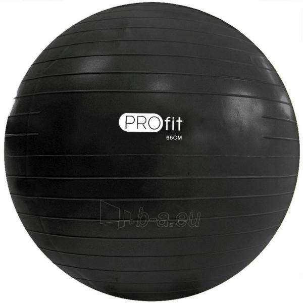 Gimnastikos kamuolys Profit 65 cm su pompa DK 2102 black Paveikslėlis 1 iš 2 310820184494