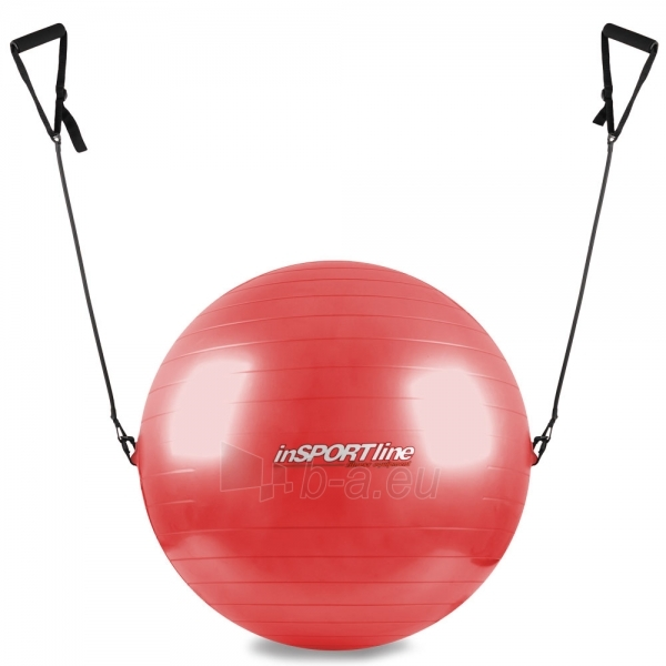 Gimnastikos kamuolys su rankenomis 65cm raudonas Paveikslėlis 1 iš 2 250620200105