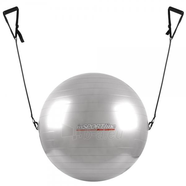 Gimnastikos kamuolys su rankenomis 75cm pilkas Paveikslėlis 1 iš 2 250620200107
