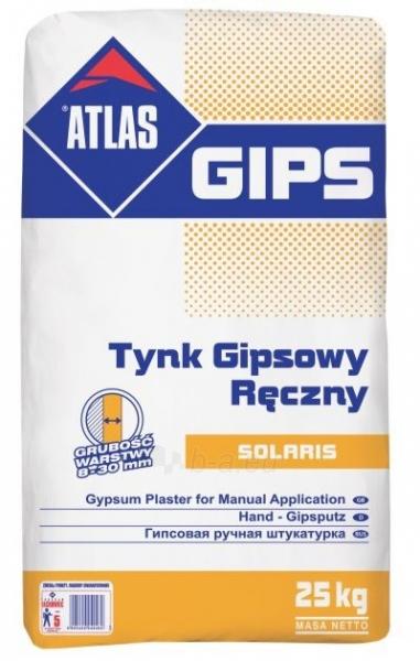 GIPS SOLARIS, 25 kg, gipsinis tinkas Paveikslėlis 1 iš 1 310820002385